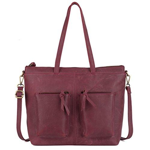 YALUXE Vintage Leather Everyday Shoulder