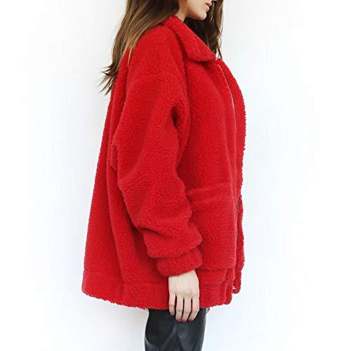 M Manches Lanlan Manteau D'hiver Xxl Longues À Chaud Khaki Red Ample Décontracté Femme Et xA4PYrwqA