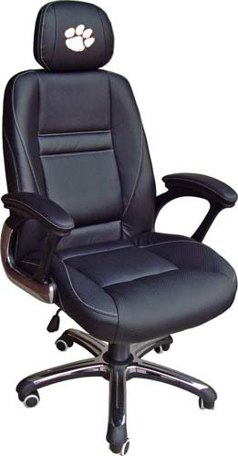 Wild Sports Wild Sports NCAA Leather Head Coach Office Chair, Clemson, Leather by Wild Sales