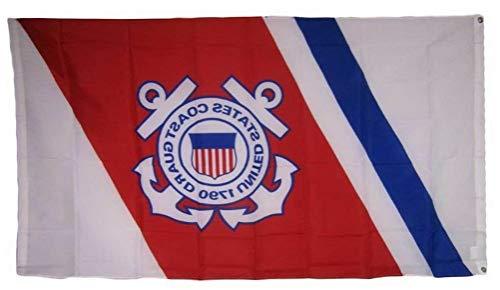 Mikash 3x5 USCG United States Coast Guard Anchors Crest Emblem Seal 1790 Flag 3x5   Model FLG - 3607