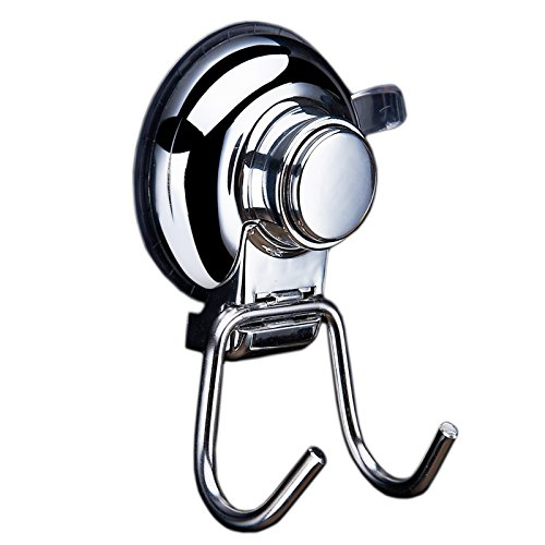 Gthunder Suction Cup Hooks Holder - Super Strong Suction Cup Hook - Buttoned Bathroom Kitchen Vacuum Stainless Steel,Set of 2 by GTHUNDER (Image #7)