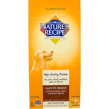 NATURE'S RECIPE 799606 Easy to Digest Chicken Meal/Rice/Barley Dry for Dogs, 30-Pound, My Pet Supplies