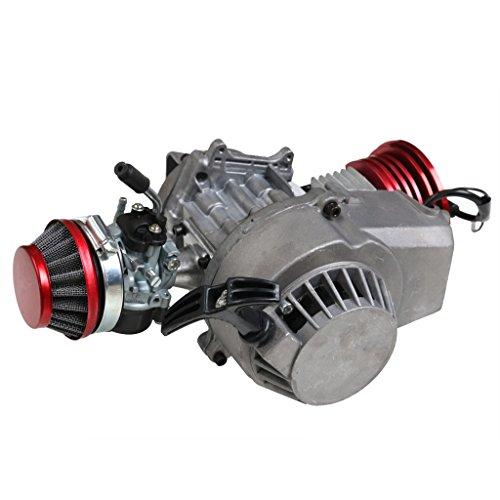 JCMOTO 49cc 2 Stroke Engine Motor for Mini Pocket Bike Gas G-Scooter ATV Quad Bicycle (Red)