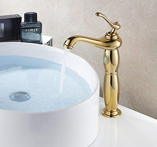 ZHAS Toilet faucet toilet over floorluxuriously massive gilded brass with LED washbasin sink hot and cold faucet single lever faucet on foot faucet for sink