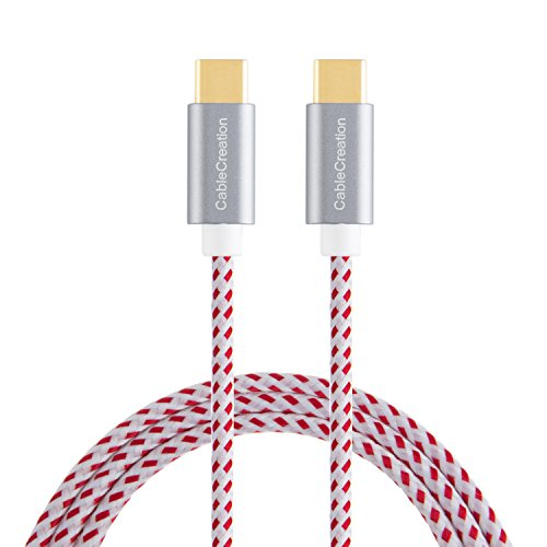 Type USB C-C Cable, CableCreation 10ft Braided USB 2.0 Type C (USB-C) to Type C Data Charging Cable(3A) Compatible MacBook(Pro), Nintendo Switch, Chromebook Pixel, Nexus 5X/ 6P, etc (Red)