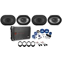 Rockville 6x8 Factory Speaker Replacement Kit+4-Ch Amp For 04-2006 Ford F-150