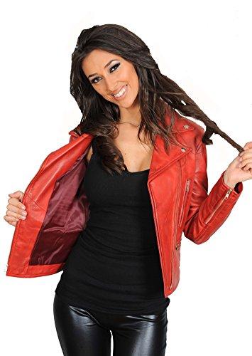 Rouge Femme Biker Goods Red Fashion Blouson A1 aCwq1HH