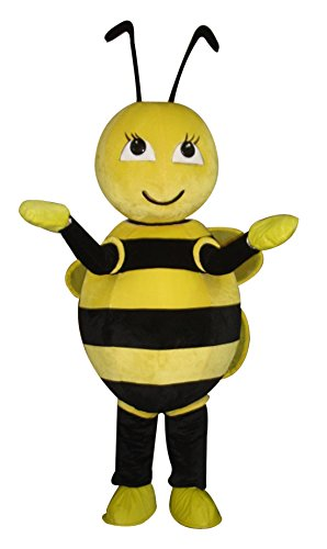 long teng Lovely Yellow Bee Mascot Costume Real Picture
