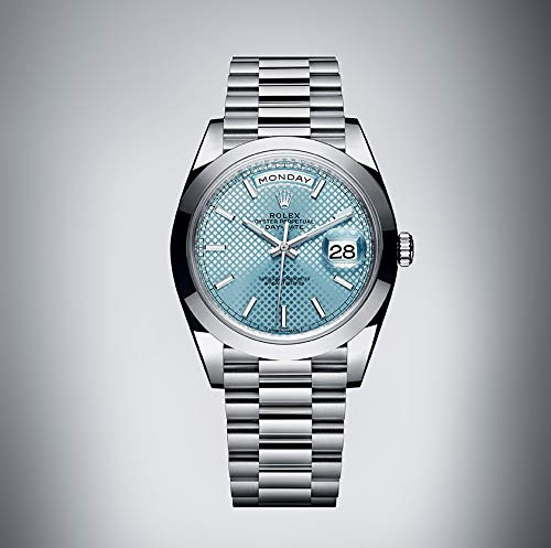 Rolex Day-Date Automatic Ice Blue Dial Platinum Men's Watch 228206 - Rolex Watches Platinum