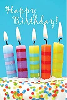 Birthday Candles Cake Postcard Pkg Of