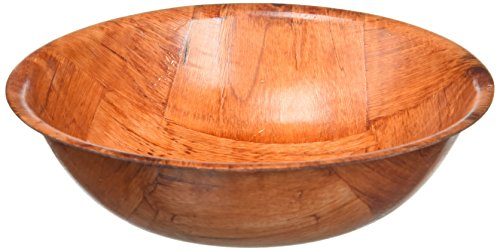 Winco WWB-6 Wooden Woven Salad Bowl, 6-Inch Brown Round Bowl