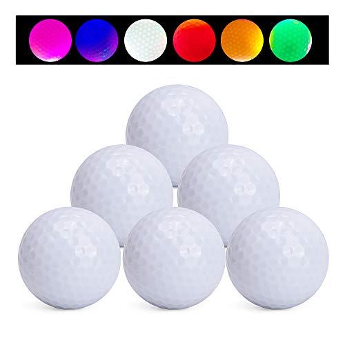 TOBWOLF 6Pcs LED Golf Balls, Glow in The