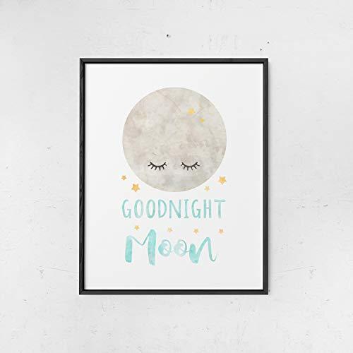 Nursery Decor for boys, Watercolor Goodnight Moon Print