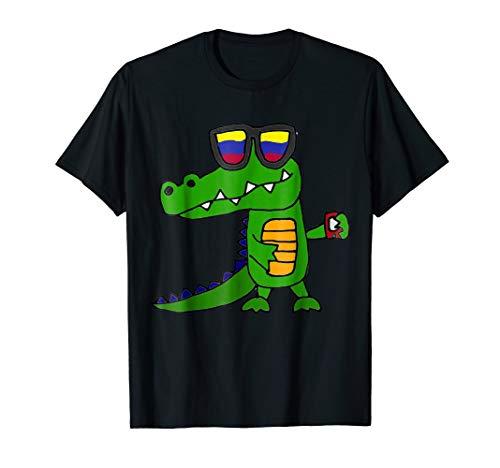 - Smiletodaytees Funny Alligator in Sunglasses T-shirt