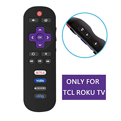 MYHGRC Replacement Remote Control for TCL ROKU TV, Compatible with RC280 RC282 28S3750 32FS3700 40FS4610R 43FP110 48FS4610R 49FP110 50FS3750, Do NOT Support Roku 1/2/3/4(HD, LT, XS, XD) and Stick
