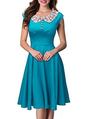 Buy light blue 50s dress - 5