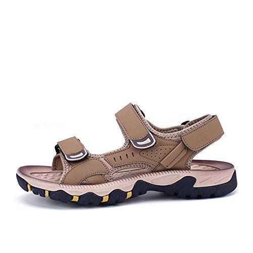 Xing Lin Sandales En Cuir La Nouvelle Plage DÉté Jeunesse Marée Sandales Chaussures Hommes Été Grandes Filles MenS Sports Et Loisirs ,41, Brun Clair