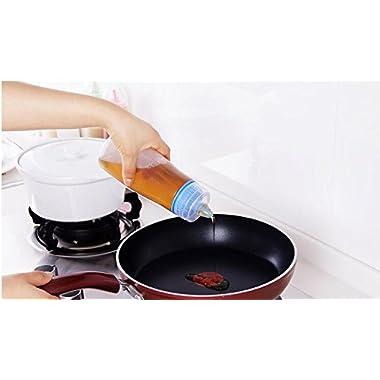 Zollyss 2 Pcs Kitchen Plastic Squeeze Bottle Condiment Dispenser for Sauce Vinegar Oil Ketchup Cruet Bottles - (Pack of 1) 14