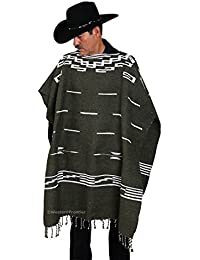 """Clint Eastwood Spaghetti Western Poncho Sweater- 38""""x38"""", Handwoven Made in Mexico"""