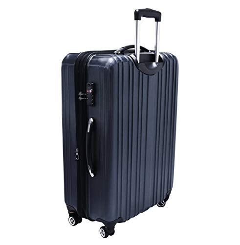 Travelers Choice Tasmania 21 Inch Expandable Spinner Luggage, Navy