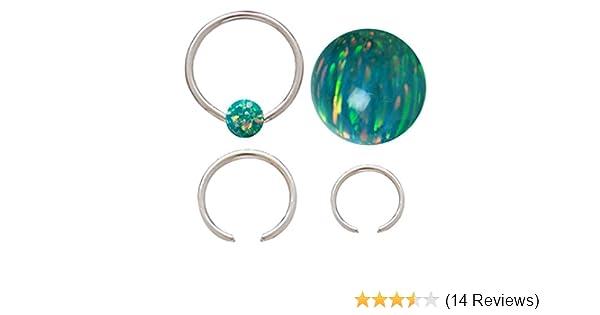 playful piercings Sparkling Synthetic Purple fire Opal Captive Nipple Septum Belly Lip Earring Hoop Ring 12g Septum