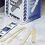 "Dynarex Wooden Tongue Depressors, Non-Sterile, Senior, 6"" x 3/4"", 5000/CS"