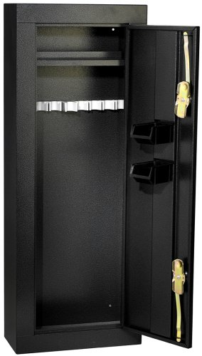 Gun Security Cabinet >> First Watch Homak 8 Gun Security Cabinet Gloss Black Hs30103660