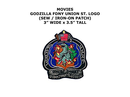 Godzilla FDNY Union Street Horror DIY Embroidered Sew or Iron-on Applique Patch Outlander (Black Widow Costume Diy)