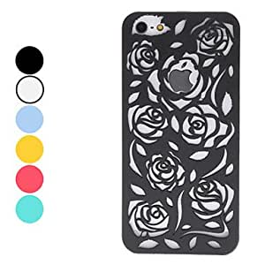 Hollow Out Style Rose Pattern Hard Case for iPhone 5 (Assorted Colors) , Blue