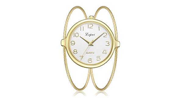 Relojes Pulsera Mujer, Analógico Cuarzo Reloj, Las Mujeres De Moda ImÁN De Hierro De AleaciÓN Impermeable Correa De Cuarzo Perezoso Reloj: Amazon.es: ...