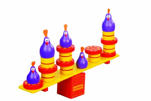 Blue Orange Games Chickyboom Award Winning Wooden Skill Building Balancing Game for Kids