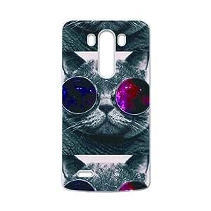 JIUJIU Colorful glasses cat Cell Phone Case for LG G3