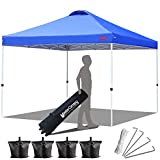 MASTERCANOPY Canopy 10x10 Compact Ez Pop up Canopy Portable Shade Instant Folding Better