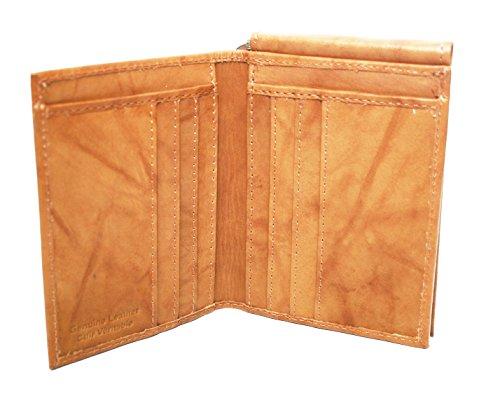 Ashlin Genuine Leather Money-Clip Wallet, British Tan [7764-18-08]