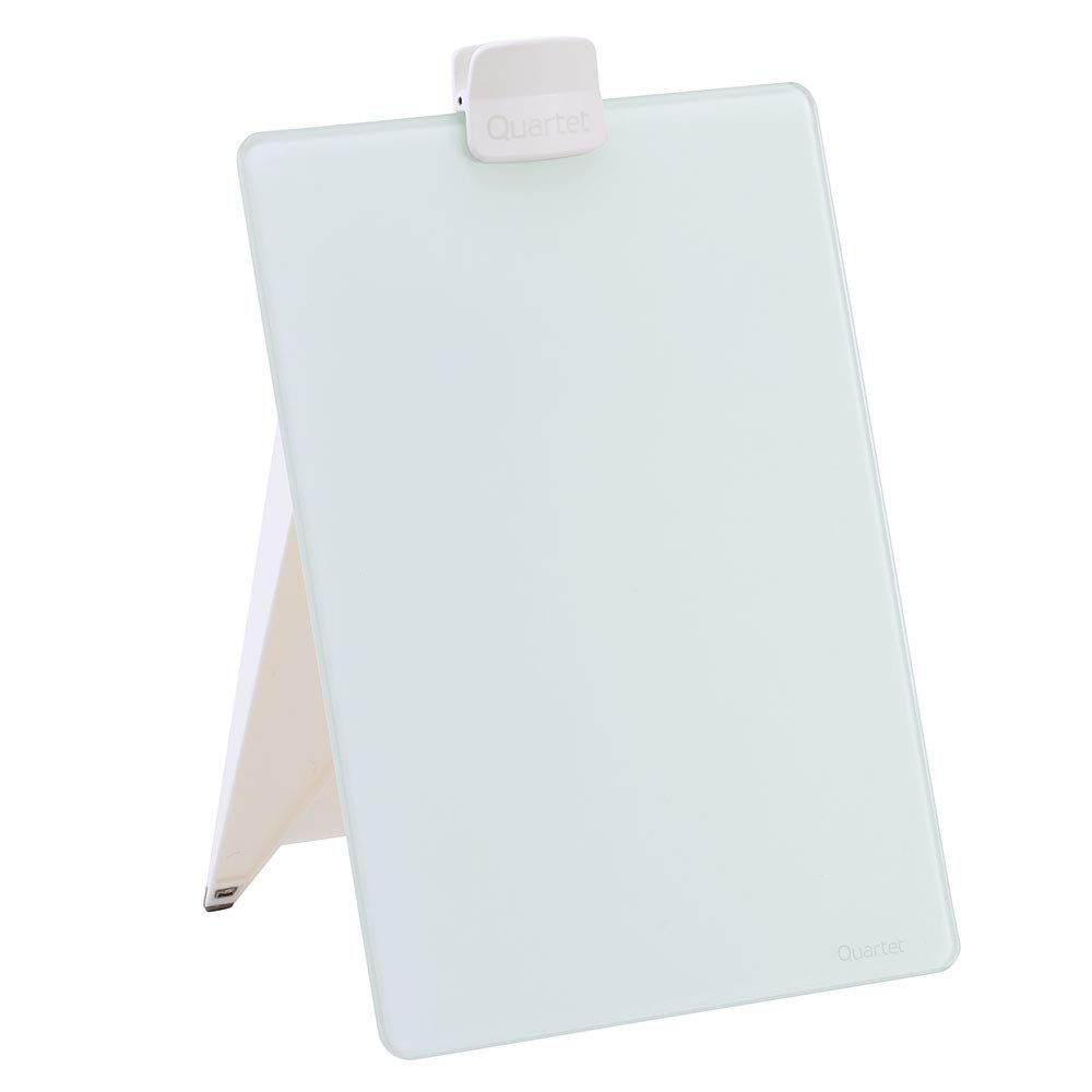 Quartet Glass Whiteboard Desktop Easel, 9 x 11 inches, White Dry Erase Surface (GDE119)