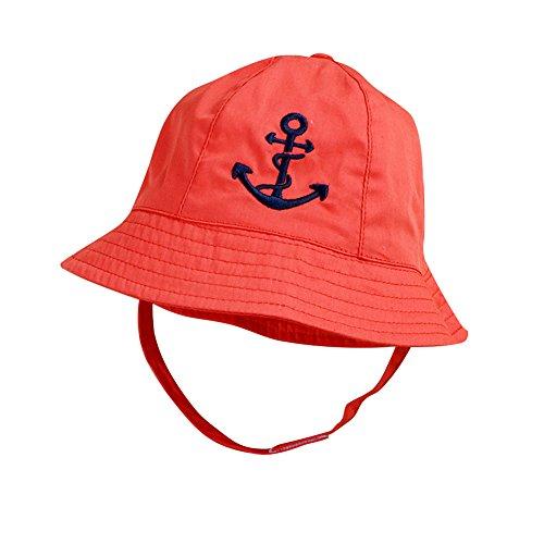 (IMLECK Baby Reversible Bucket Cartoon Pirate Sun Protection Hat)
