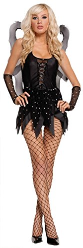 Elegant Moments Womens Fairy Sexy Midnight Nymph Theme Party Halloween Costume, L (14 Sexy Halloween Costumes)