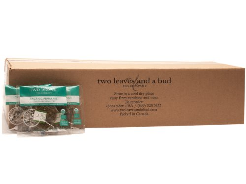 Two Leaves and a Bud Organic Peppermint Herbal Tea, 100-Count (Leaves Tea Peppermint Tea)