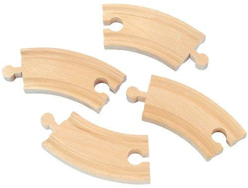 Maxim Enterprise Short Curved Track 4-Piece Toys 50906 Wooden Tracks