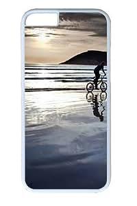 Beach bike ride Custom Case For Iphone 5C Cover Polycarbonate White