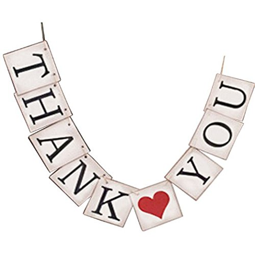 THANK YOU Vintage Wedding Bunting Banner Photo Booth Props Garland Bridal Show Wedding Decoration -
