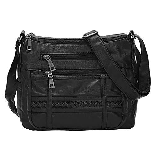 Multi Pocket Crossbody Bags for Women, Waterproof Messenger Bag Large Capacity Shoulder Bag with Adjustable Strap by Vielgluck