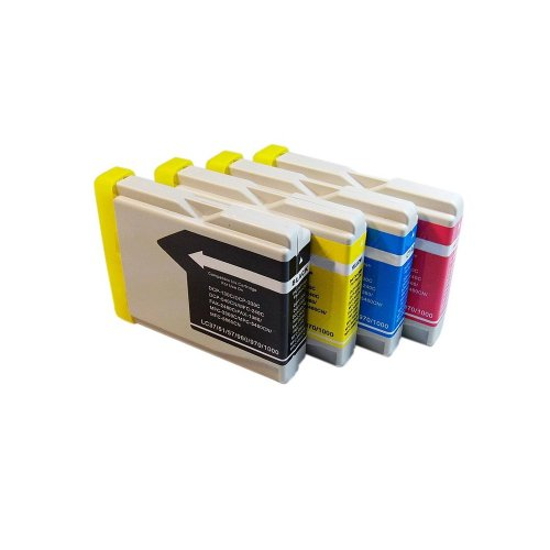 Inkcool 4-Pack. Compatible Ink Cartridge Replacement for Brother LC51 (1 Black, 1 Cyan, 1 Magenta, 1 Yellow)