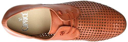 Caprice 23501, Zapatos de Cordones Oxford para Mujer Naranja (Orange Nappa)