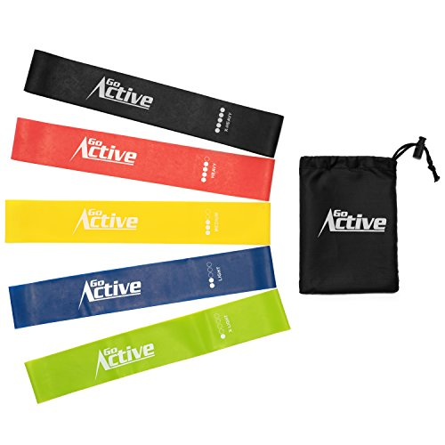 Resistant Band Exercise - Go Active Lifestyles Resistance Bands For Legs And Butt - Exercise Resistance Loops Band For Workout - Best Fitness Bands For Sports Training - 5 pcs