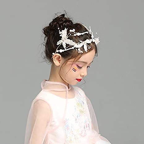 Adornhome Mädchen Kopfschmuck Handgefertigte Bridal Tiara