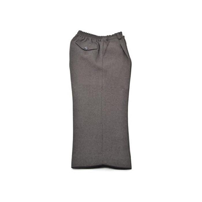 Pantalón escolar fabricado en España de gran calidad y muy cómodo. Con cintura elástica para facilitar la autonomía del niño. 100% Poliéster normal