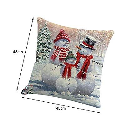 Shuda Funda de Almohada de Navidad Novedad de la Cintura de Santa Throw Pillow Case Funda de Almohada Funda de coj/ín para sof/á Cama Oficina del Coche Decoraci/ón del hogar 45cmX45cm 1Pcs