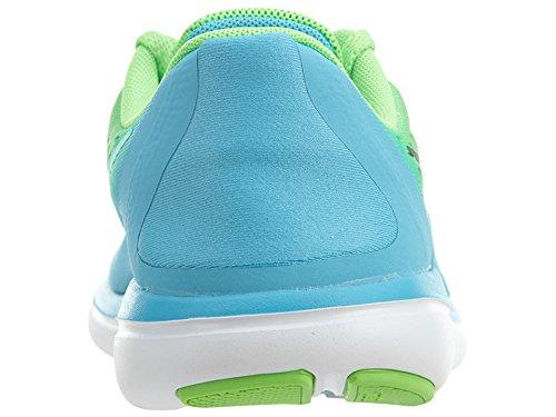 Nike Kids Flex 2017 Rn (gs) Scarpa Da Running Rage Verde / Nero-cloro Blu