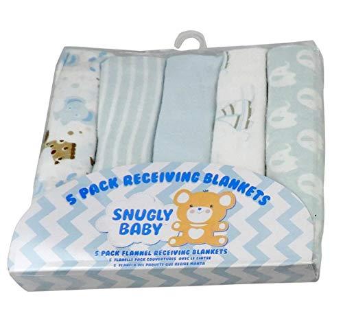 5 Piece Flannel Receiving Blanket Set 30